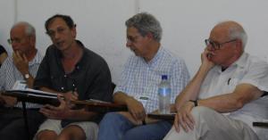vr.: Francois Houtart, Frei Bett, Michael Ramminger u. José Comblin auf dem Weltsozialforum 2009 in Brasilien